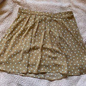Brown Polka Dot Skirt!